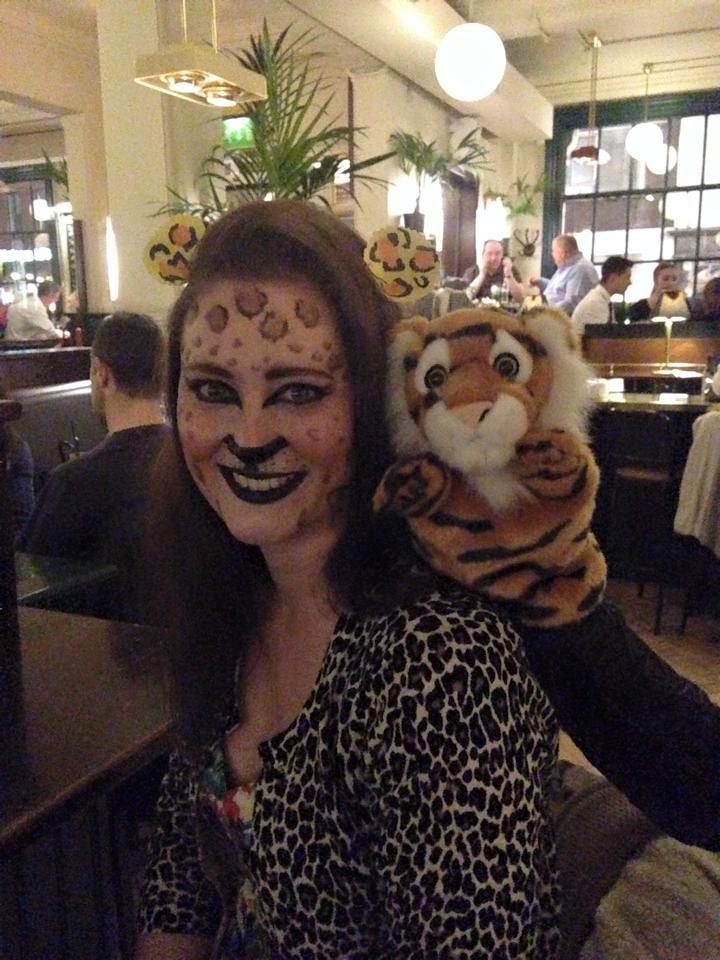 Leopard Half Face Paint Face Paint And Leopard